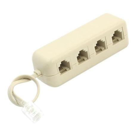 RJ11 TELEPHONE CABLE 4 WAY SPLITTER