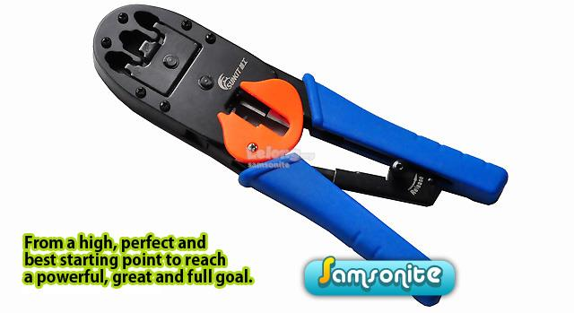 RJ45 RJ11 CAT5 LAN Network Crimping Tools Cable Stripper Cutter Crimpe