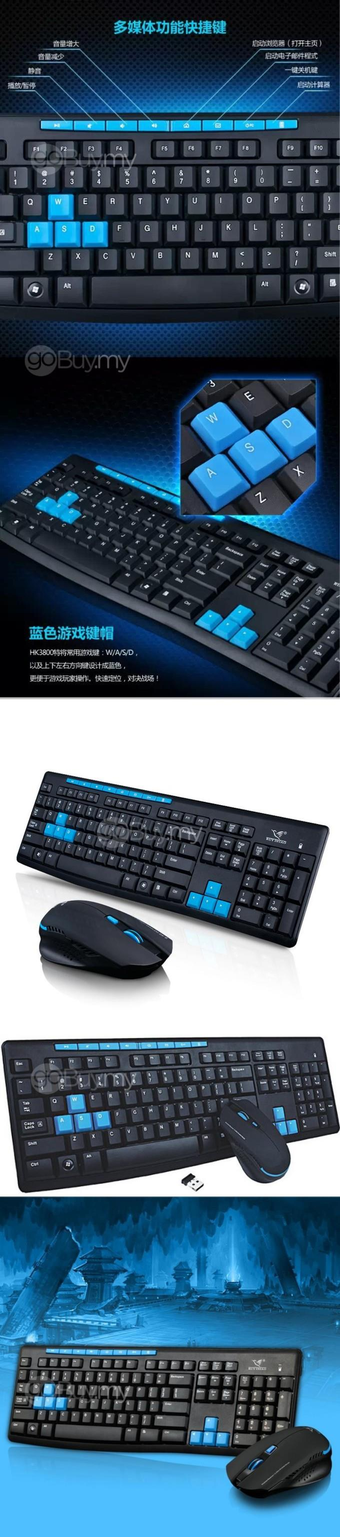 [RM66.90 ONLY] Wireless Mouse + Wireless Keyboard, Combo Set