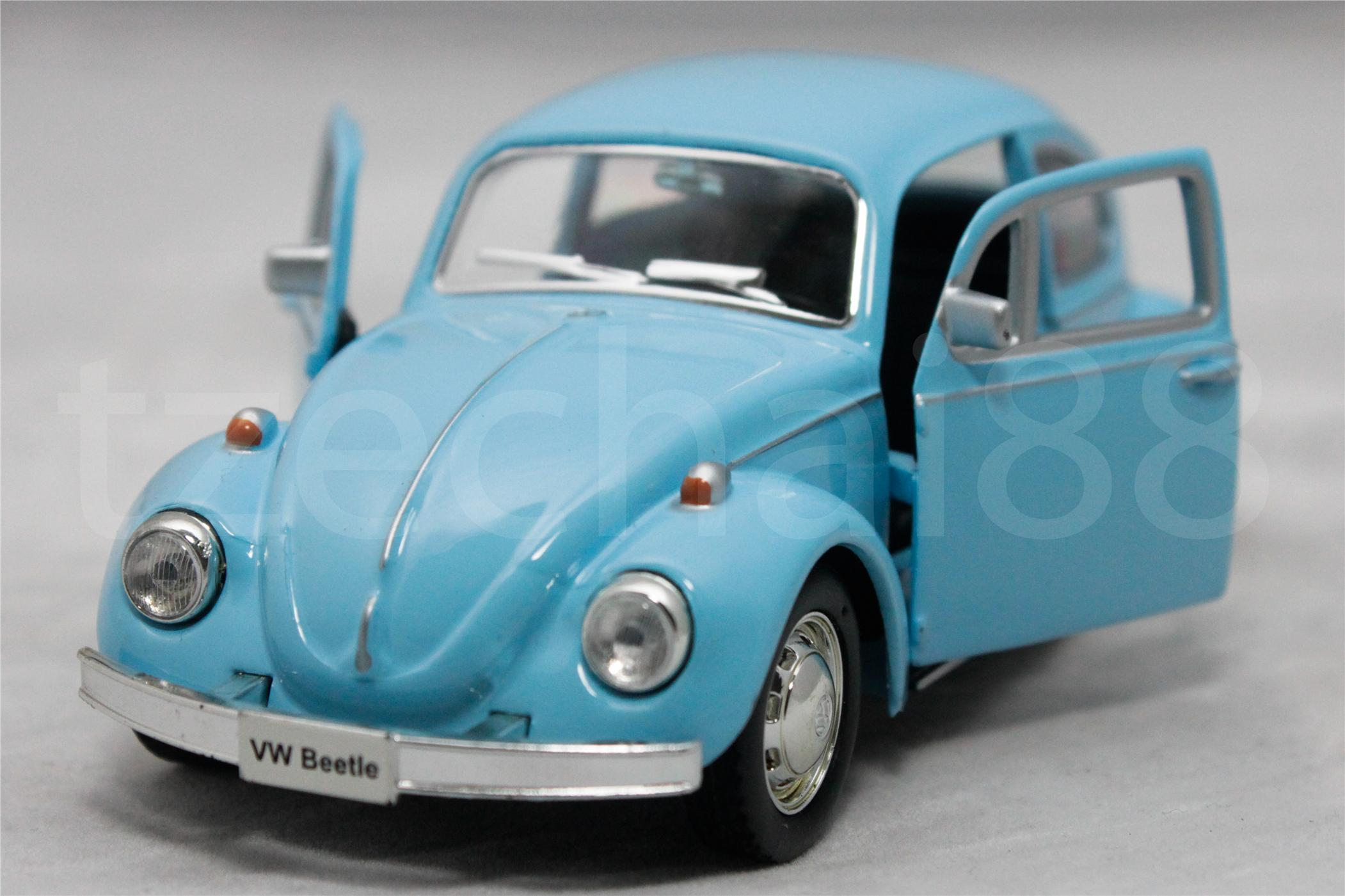 RMZ CITY DIECAST 1:36 CAR VOLKSWAGEN BEETLE BLUE COLLECTION NEW GIFT
