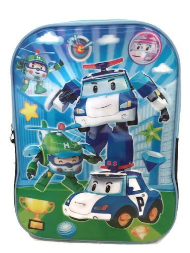 ROBOCAR POLI 3D SCHOOL BACKPACKS,Cartoon kids backpacks