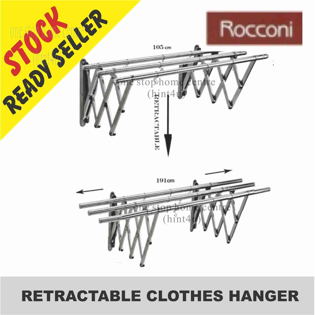 ROCCONI RCH 630 CLOTHES HANGER 3 BAR FLEXIBLE EXTENSION 4' to 6'