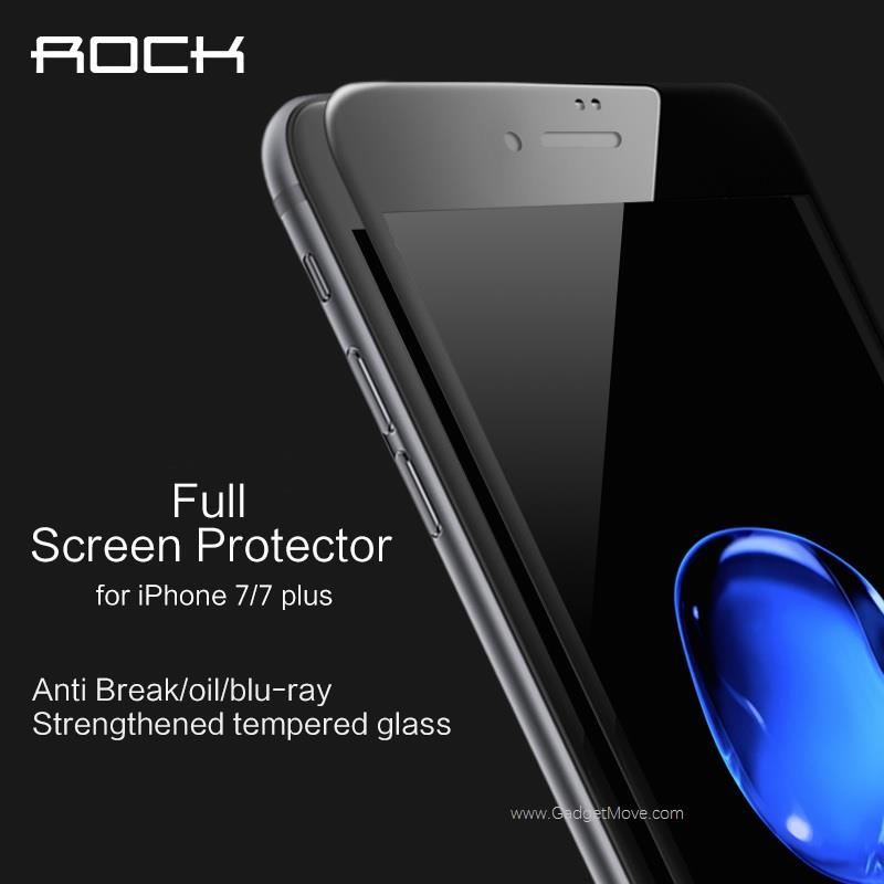 Rock iPhone 7 / 7Plus Anti Blu-Ray Full Screen Coverage Tempered Glass