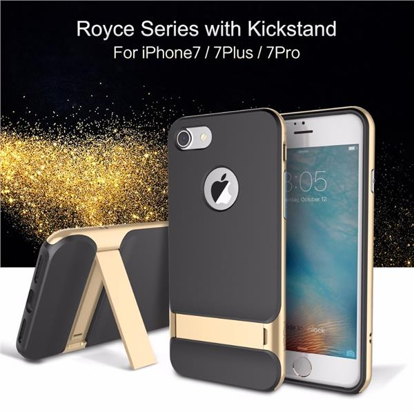 ROCK Royce iPhone 7 Plus 7+ Bumper Hybrid Back Cover Case KickStand