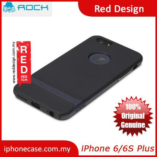 Rock Royce Series Double Layer Cover Case for iPhone 6 Plus 5.5 - Navy
