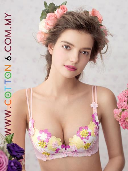 Romantic Flowery Lace Bra