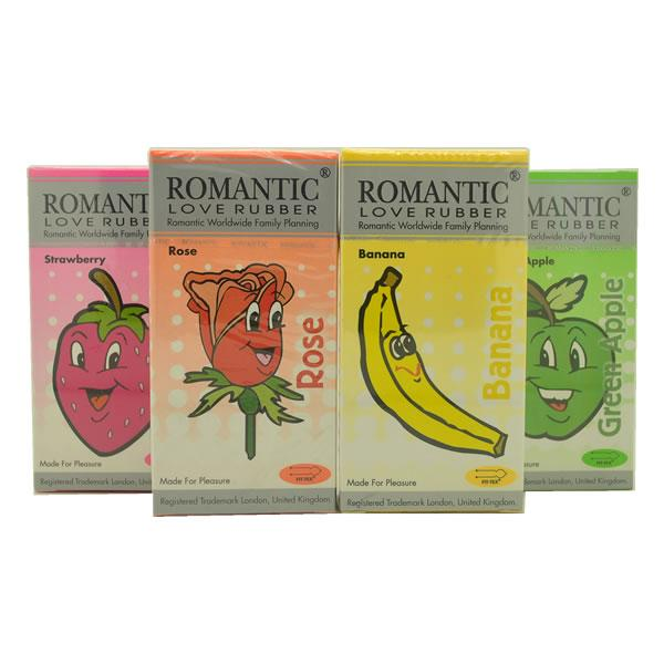 Romantic Love Rubber 4 in 1 Aroma Condom Pack - 48's