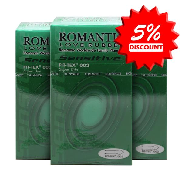 Romantic Love Rubber Quick & Easy Fit Tex 002 Condom (Kondom) - 10's