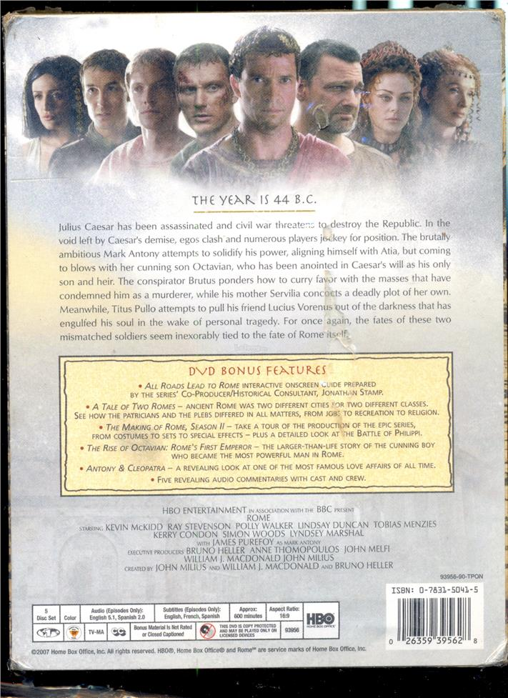 Rome The Complete Second Season - New DVD Box Set