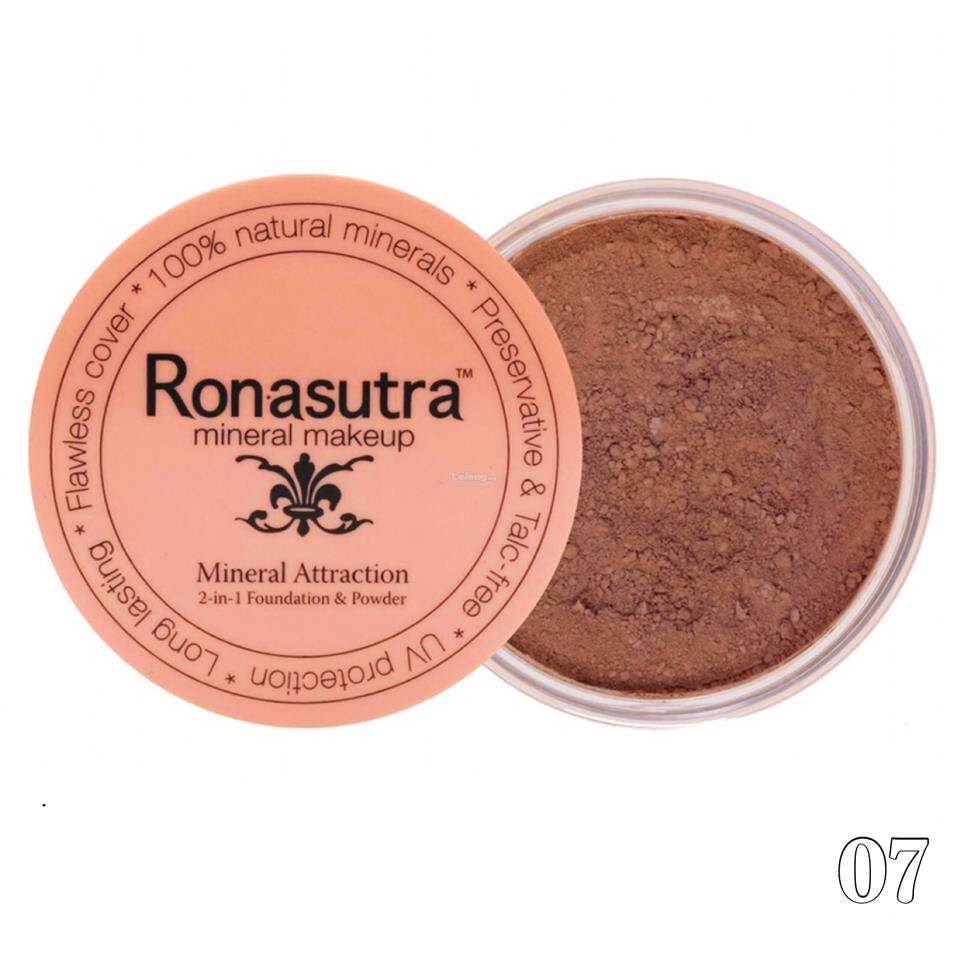 Ronasutra 2-in-1 Mineral Foundation & Powder (Dark Chocolate 07)