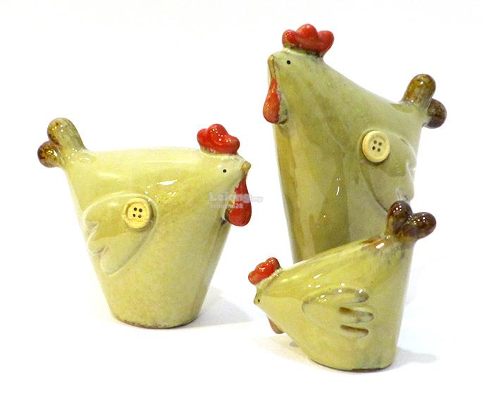 Rooster, Hen & Chick - Home Decoration Figurine