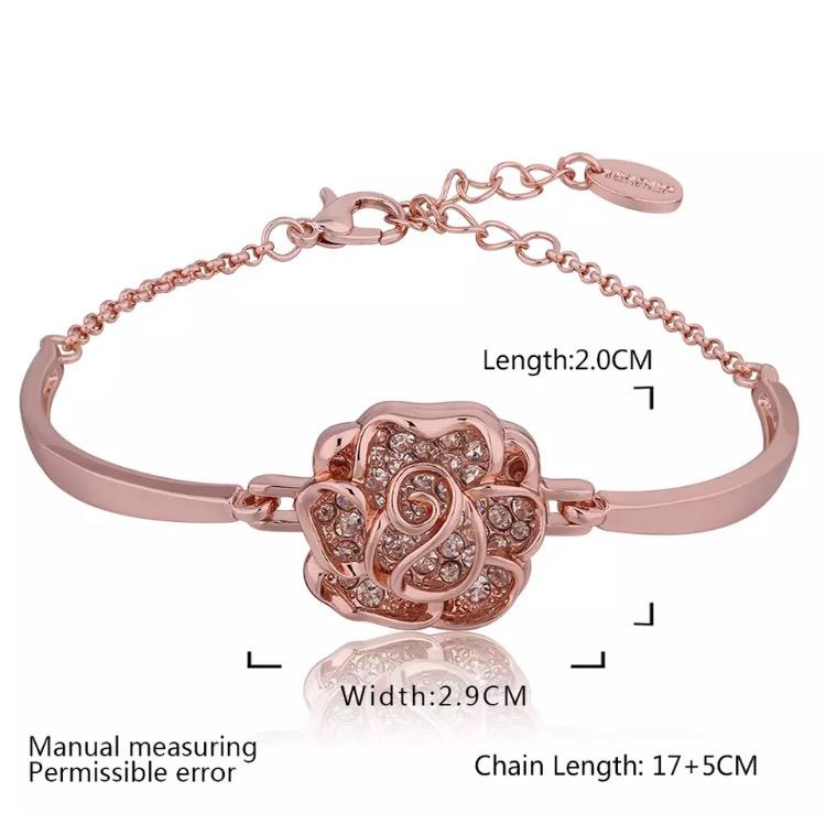 Rose Gold pleated Woman Bracelet