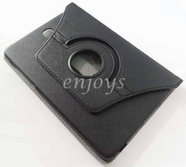 Rotate Carbon Leather Pouch Case Samsung Galaxy Tab S2 8.0 T715 ~BLACK
