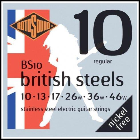 Rotosound BS10 British Steel Stainless Steel Electric Guitar Strings