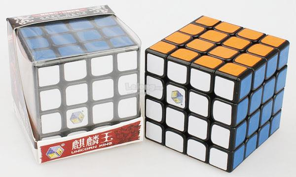 Rubik's Cube - YuXin 4x4x4 Unicorn King PVC Black
