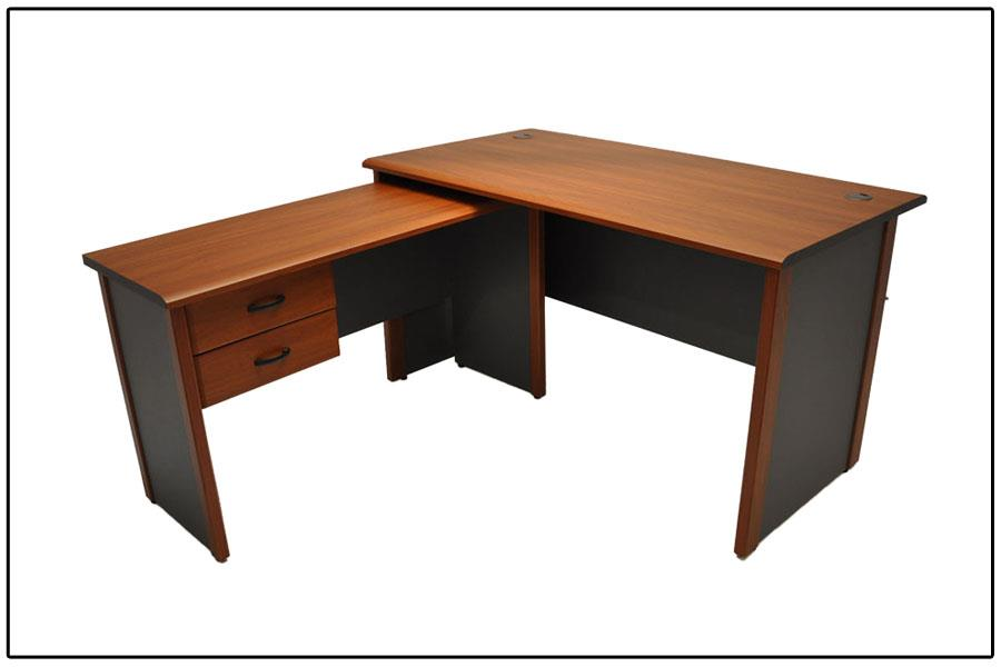S+ Infinite Writing Desk With Side Return n Side Return Drawer