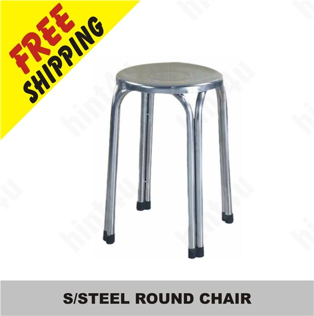 S/STEEL ROUND CHAIR