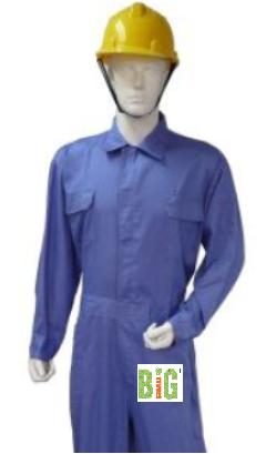 Safey Apparel Coverall Cotton General Industr Plain NFR FOC Del No GST