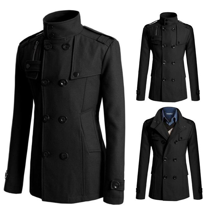 SALE!!! D.HOMME ENGLAND LUXURY BREASTED CASUAL BLAZER-COAT