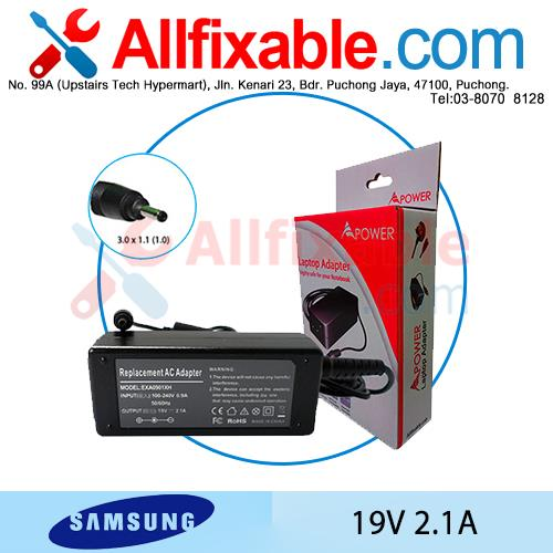 Samsung 19V 2.1A ATIV Book 9 Lite NP905S3G Series Adapter Charger