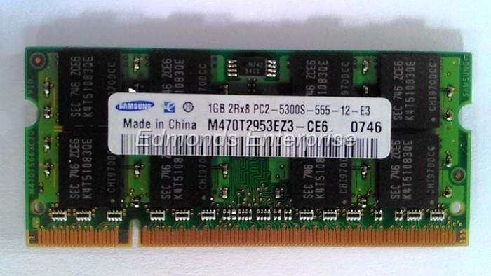 Samsung 1Gb DDR2 667Mhz PC2-5300 Laptop Ram M470T2953EZ3-CE6