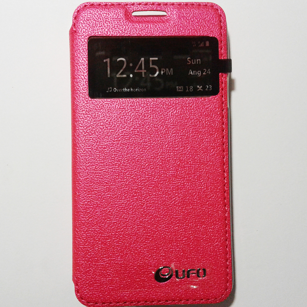 SAMSUNG GALAXY A3 - PINK COLOUR - PHONE FLIP COVER CASE