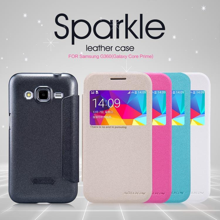 Samsung Galaxy Core Prime Nillkin Sparkle Series Flip Leather Case