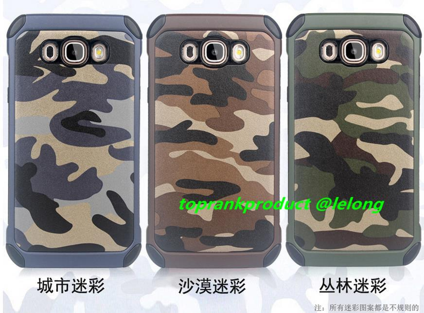 Samsung Galaxy J5 J7 2016 Camouflage Case Cover Casing + Free Gift