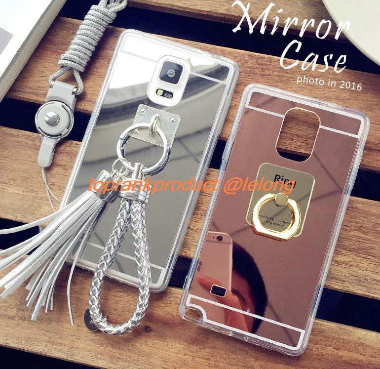 Samsung Galaxy Note 3 4 5 7 Mirror Silicone Case Cover Casing + Gift