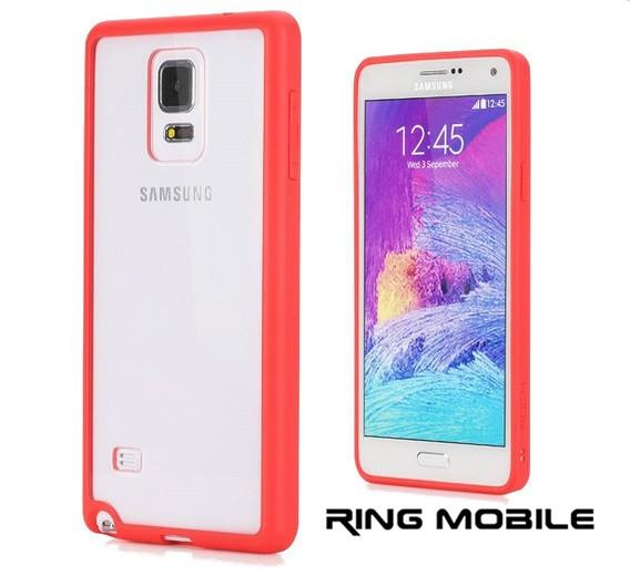 Samsung Galaxy Note 4 Rock Enchanting Series Bumper Case / Red - rmtle