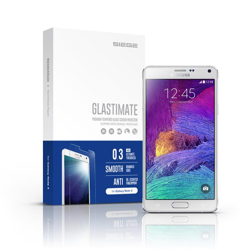 Samsung Galaxy Note 4 Siege Glastimate Premium Tempered Glass
