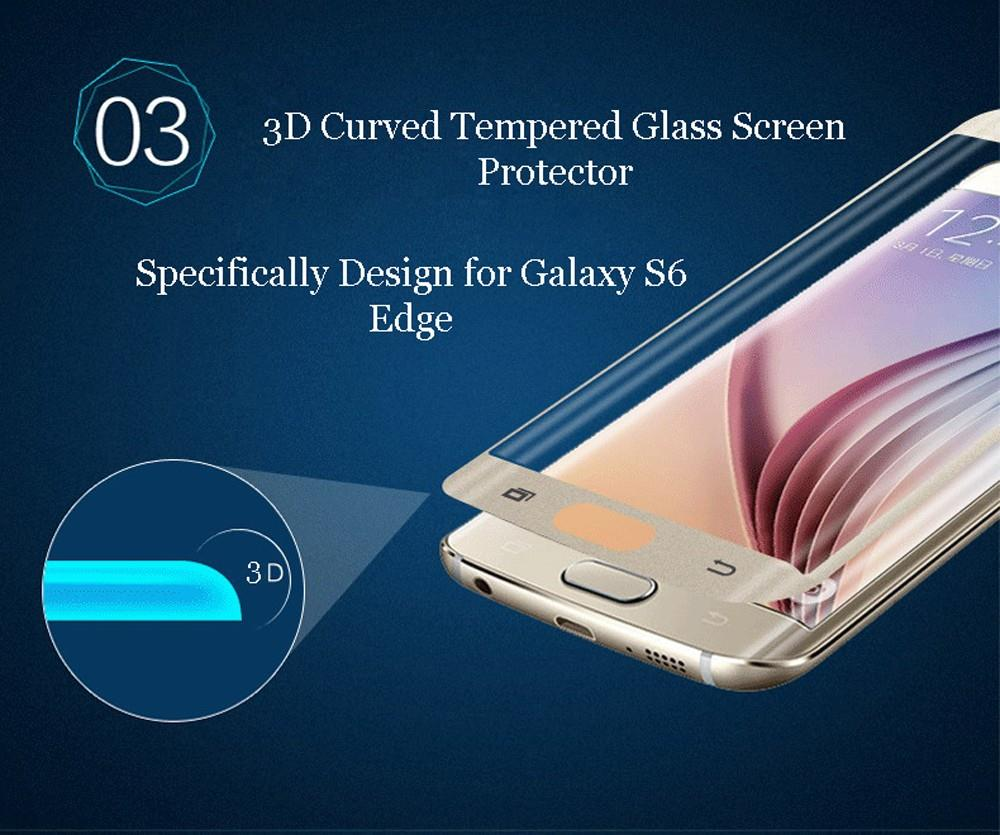 Samsung Galaxy S6 Edge/ Plus FULL Tempered Glass Screen Protector