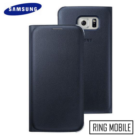 Samsung Galaxy S6 Flip Wallet Cover / Black - Original