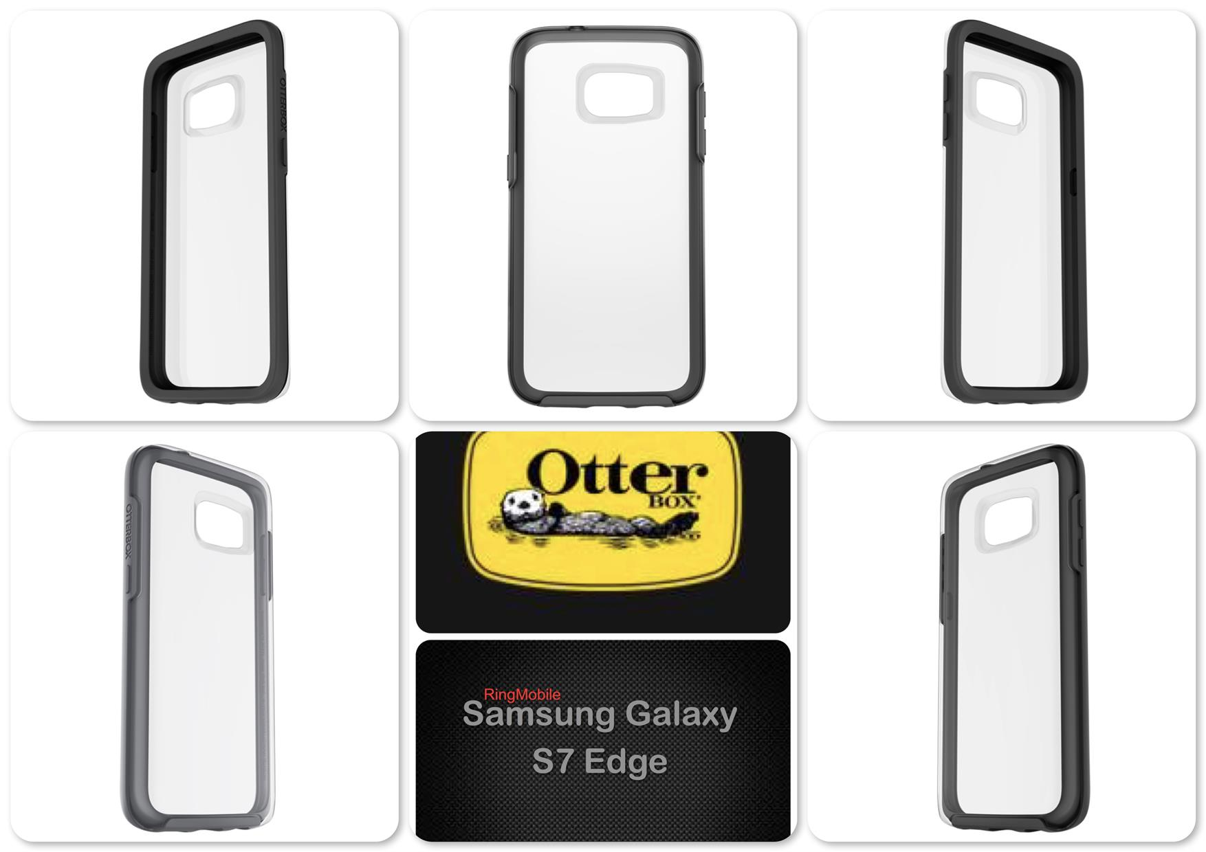 Samsung Galaxy S7 Edge Otterbox Symmetry Clear Series Black Crystal