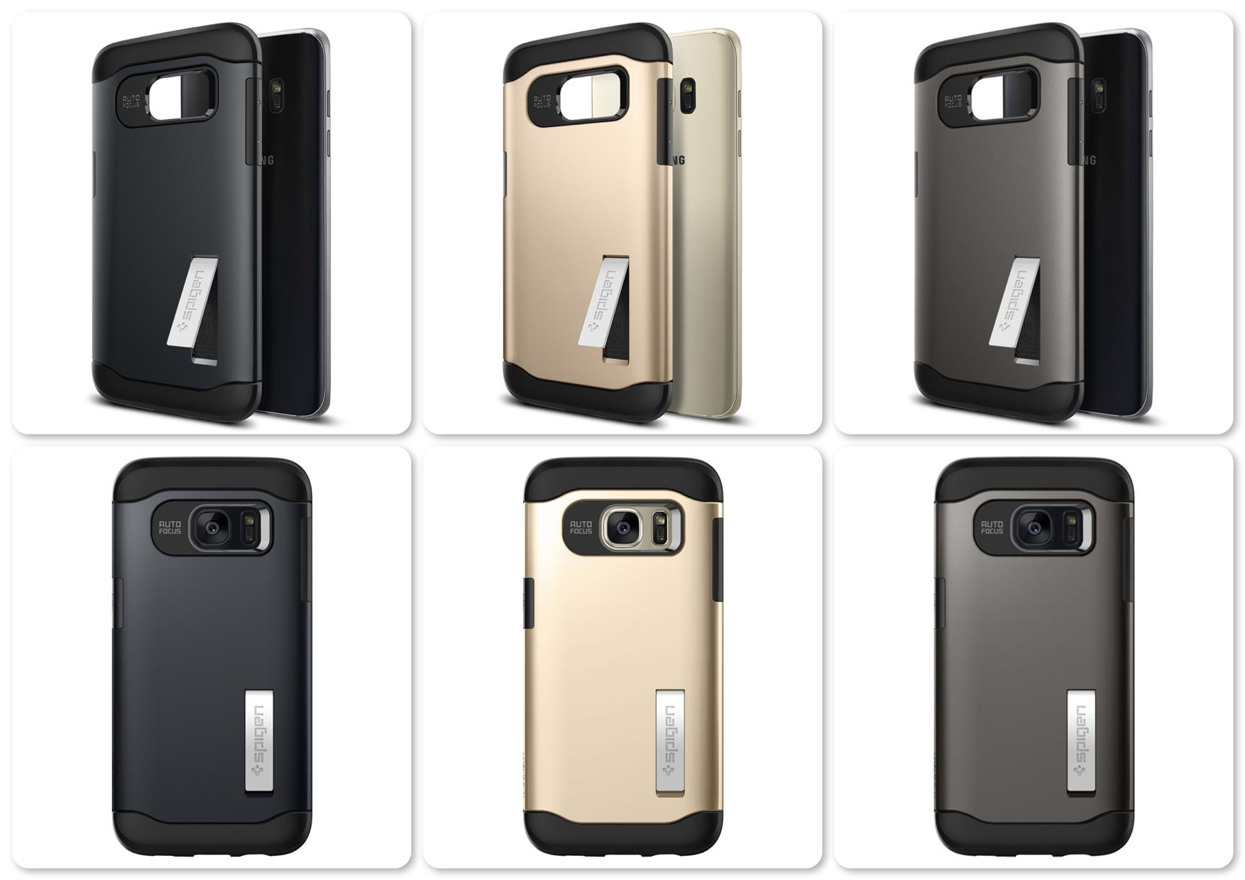 Samsung Galaxy S7 Edge Spigen Slim Armor series Case with Stand
