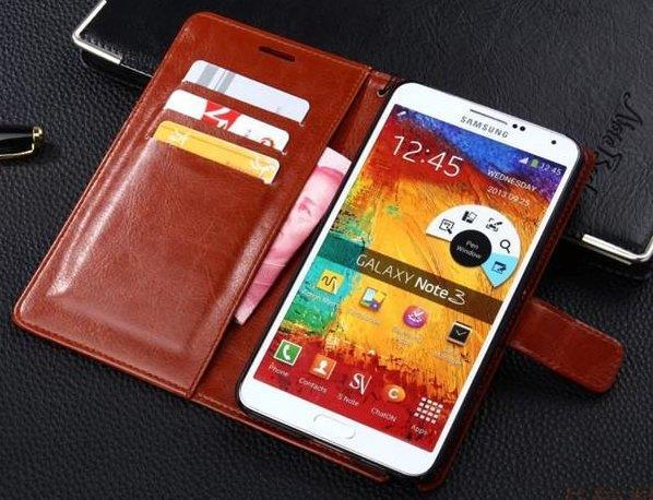 SAMSUNG NOTE 2/3/4, A5, A7, A8 LEATHER PHONE CASE CASING COVER