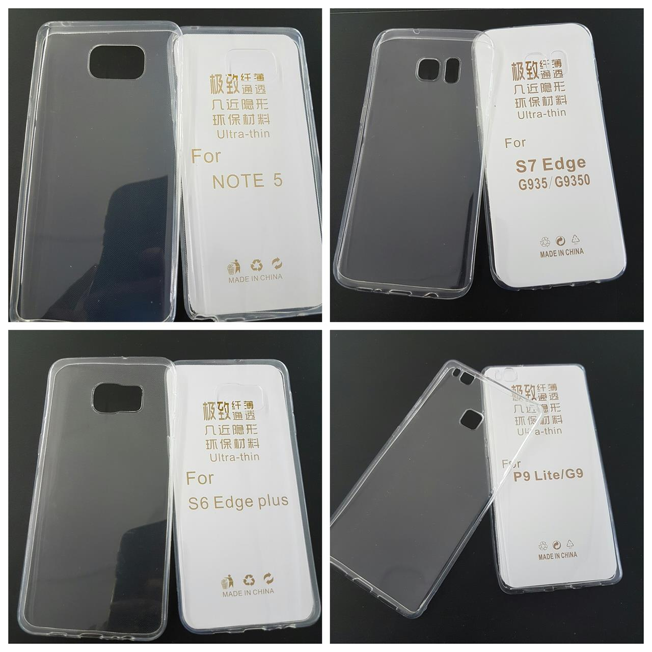 Samsung S7 Edge /S6 Edge plus / Note 5 /Note 7Transparent behind TPU C