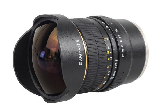 Samyang 8mm f3.5 Aspherical IF AE Version Fish eye Lens NIKON D7000..
