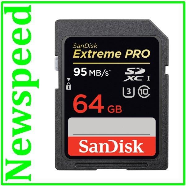 New Sandisk Extreme Pro 64GB Full HD SD Card (95MB/s) SDXC Memory Card