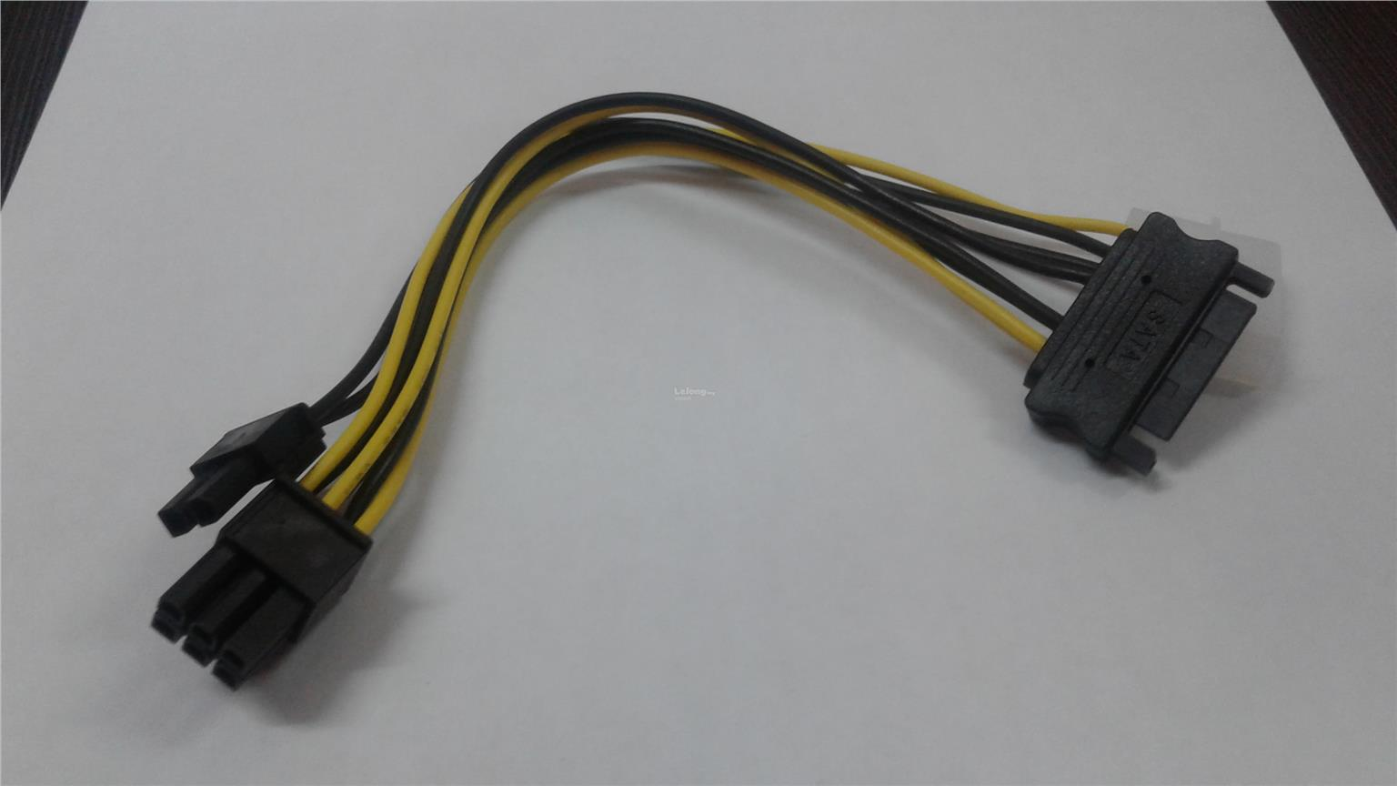 SATA IDE Cable to 8 Pin PCIE Video Card power
