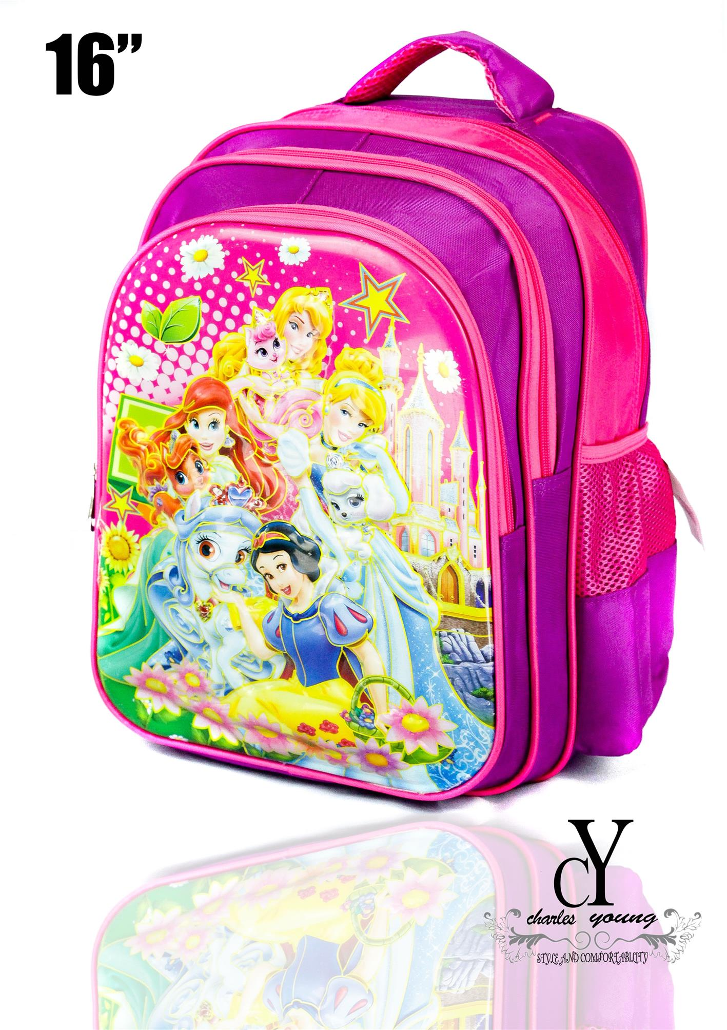 SCHOOL,BAG,SEKOLAH,3D,PRINT,DISNEY,SNOW,WHITE,MERMAID