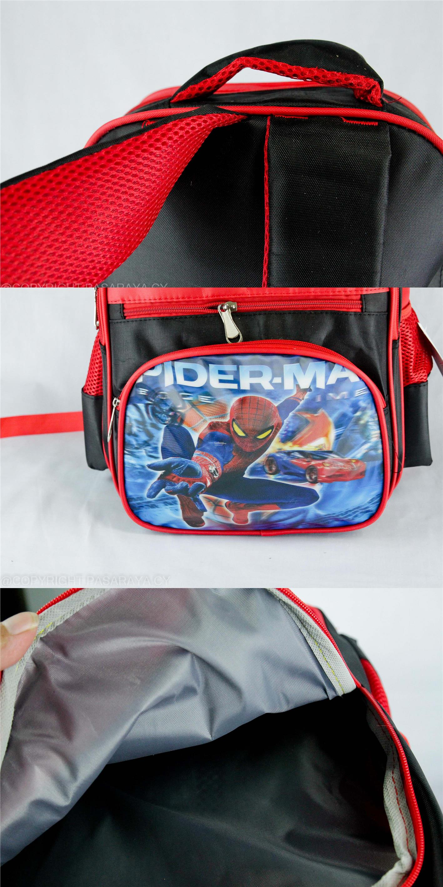 SCHOOL,BAG,SEKOLAH,CARTOON,DISNEY,MARVEL,AVENGERS,SPIDERMAN,