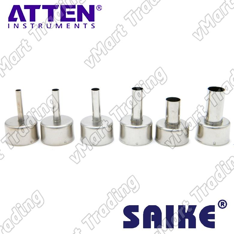 Screwless Hot Air Nozzles Bundle for ATTEN and SAIKE [1 set 6 pieces]