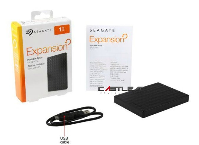 SEAGATE HDD EXT 2.5' USB3.0 EXPANSION 1TB STEA1000400 BLACK