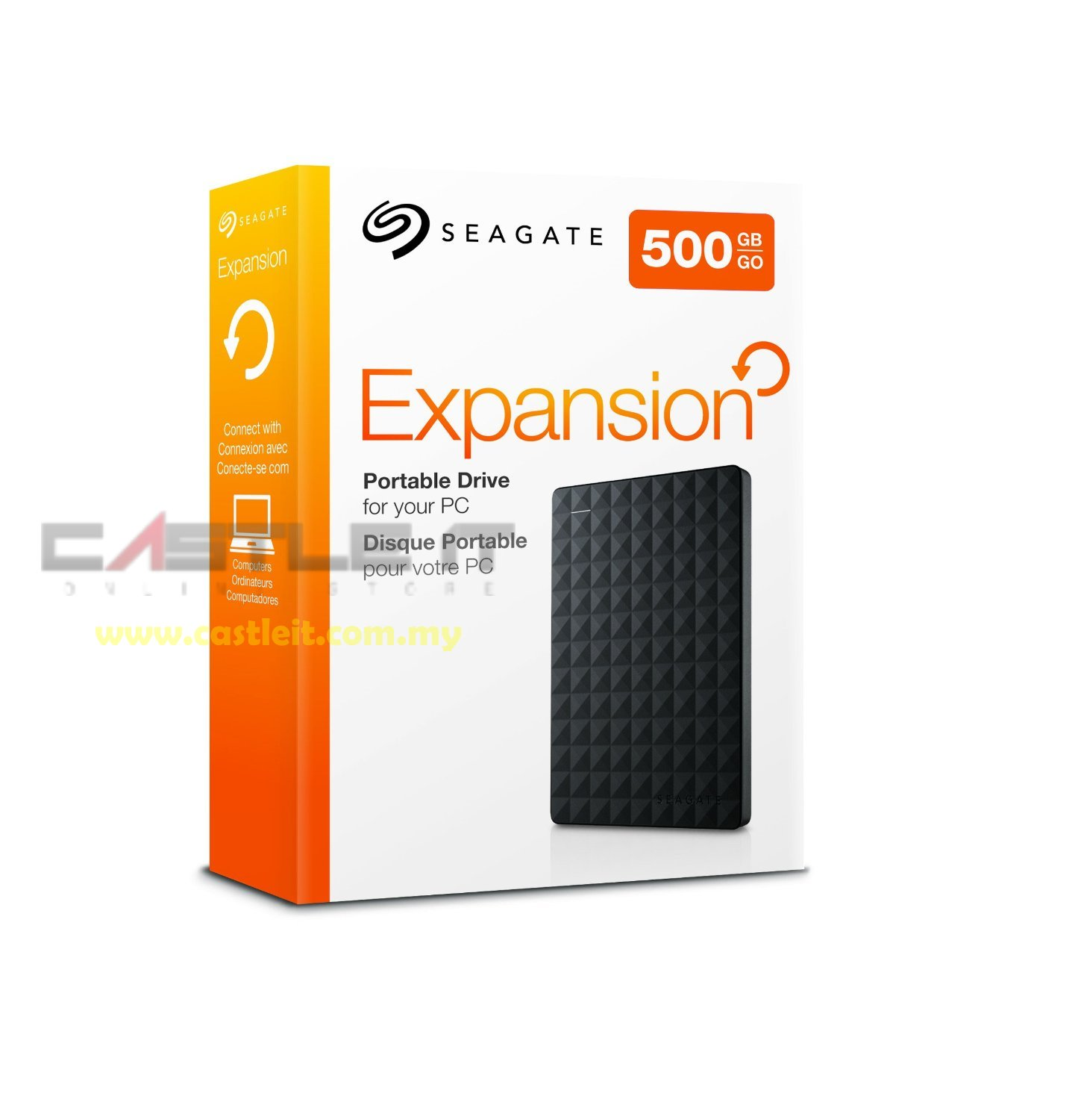 SEAGATE HDD EXT 2.5' USB3 EXPANSION 500GB (STEA500400) BLACK DIAMOND
