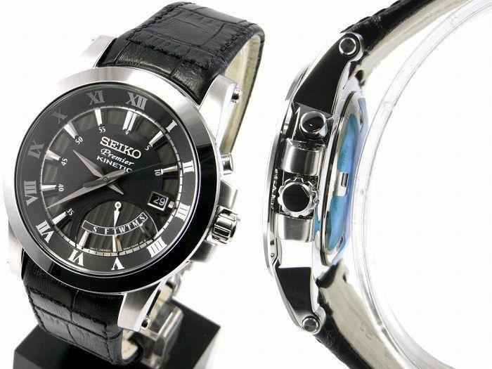 Seiko SRN039P2 Gents Kinetic Retrograde Day Indicator Watch
