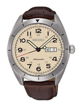 SEIKO SRP713K1 SRP713K SRP713 AUTOMATIC BROWN LEATHER WATCH