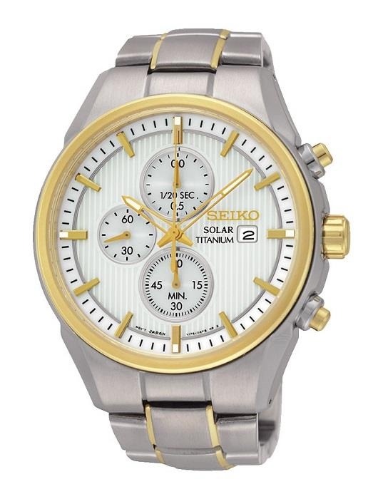 SEIKO SSC368P1 SSC368 SOLAR TITANIUM CHRONO MENS WATCH