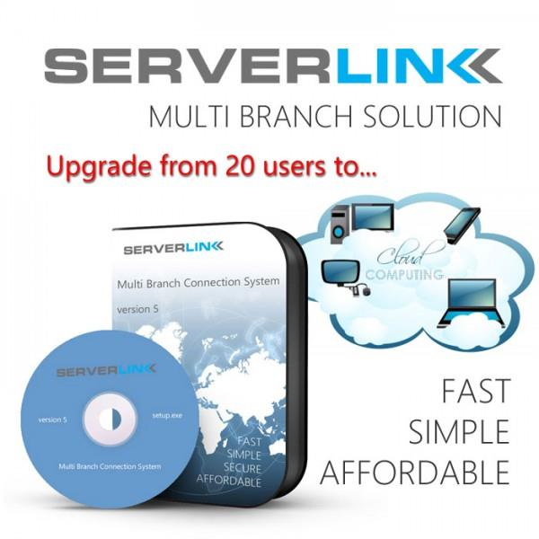 ServerLink Upgrade from 20 to Unlimited users