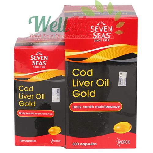 SEVEN SEAS COD LIVER OIL GOLD 500's + 100's